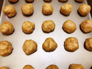 茶点——花生小酥饼,分成20克左右一个的小球