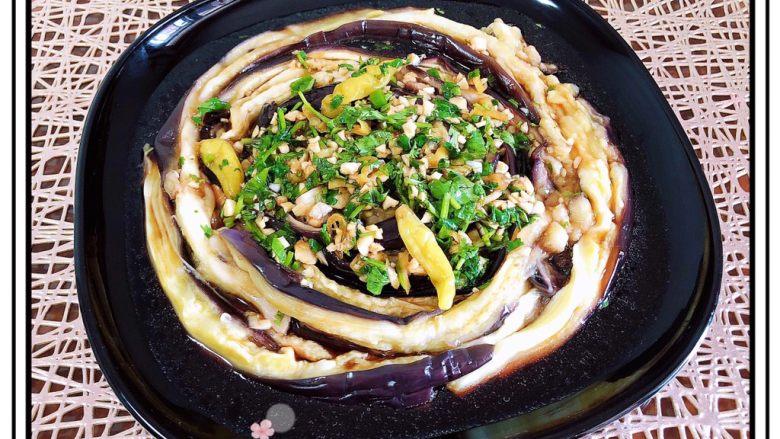 蒜香蒸茄子(泡椒蒜泥版)