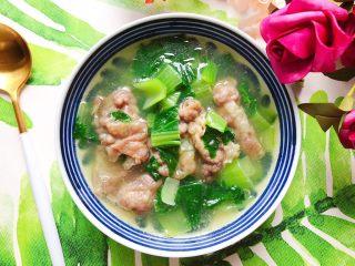 青菜肥牛汤