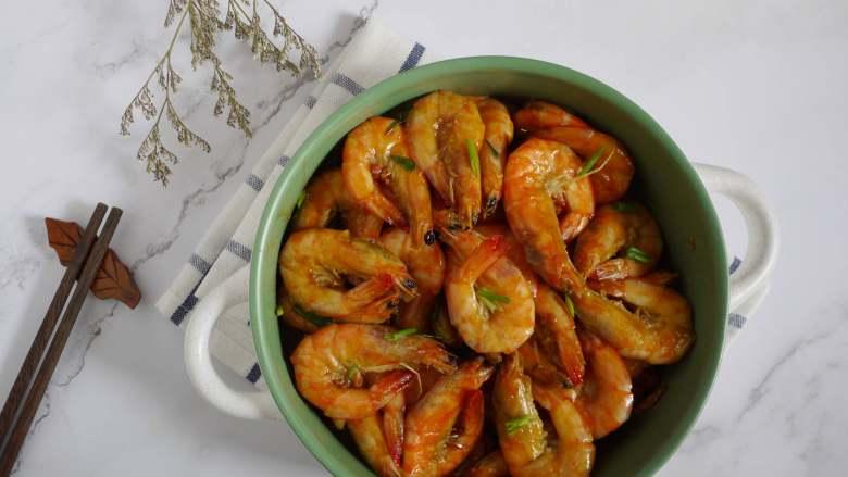 蒜蓉酱油烧大虾