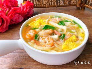 虾仁菌菇汤,成品图三