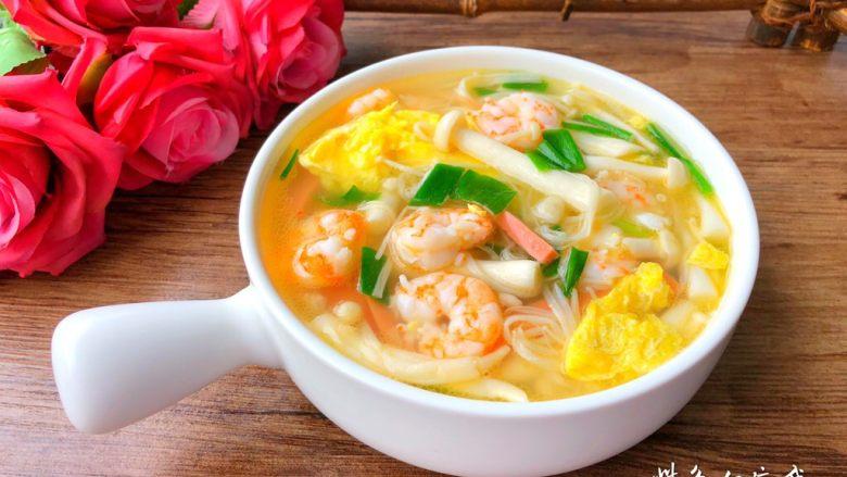 虾仁菌菇汤