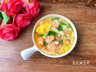 虾仁菌菇汤,成品图四