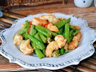 虾仁炒豇豆,豇豆很入味儿。