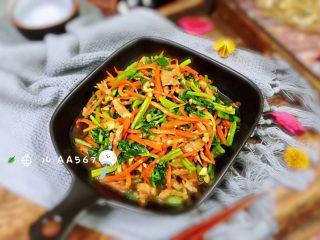 胡萝卜炝芹菜