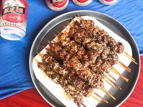 健康烧烤  电烤羊肉串