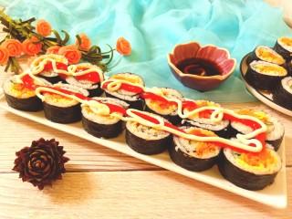 辣白菜肉松寿司卷