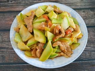 西红柿西葫芦炒肉片