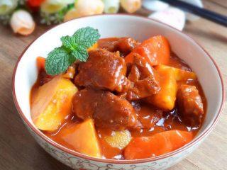 土豆炖牛肉,装盘~