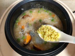 什锦虾仁粥,半勺姜末