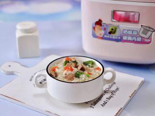 西兰花猪肝粥(宝宝辅食),成品一