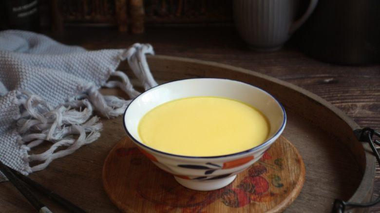 鹅蛋羹~孕妇餐,平滑如镜的鹅蛋羹出锅喽!
