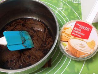 面包蛋糕混合包,倒入酸奶油,翻拌均匀。