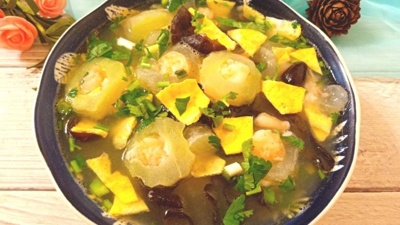 虾仁冬瓜汤菜