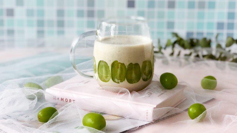 青提酸奶杯