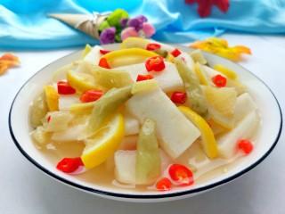 柠檬泡椒酸萝卜,特别入味!