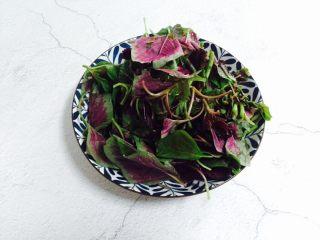 清炒红苋菜,装盘备用