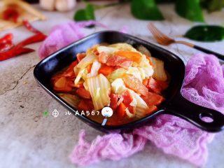 培根胡萝卜炒白菜