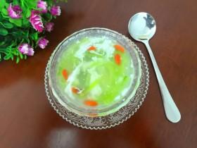 蛋白丝瓜枸杞汤