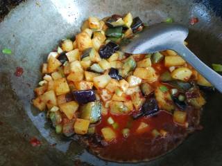 鱼香二丁,倒入小碗中的调料