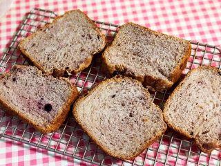黑醋栗酸奶吐司(面包机版),凉透后切片。