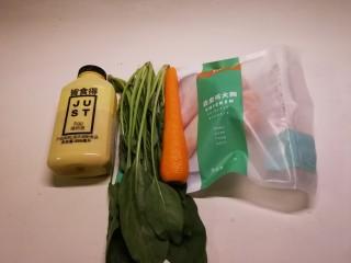 蔬菜肉蛋肠,食材准备好了