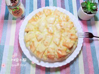 蜜瓜蔬果披萨