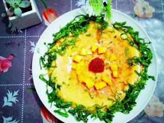 果蔬鸡蛋饼  #鸡蛋的花样年华#,美味的果蔬鸡蛋饼。