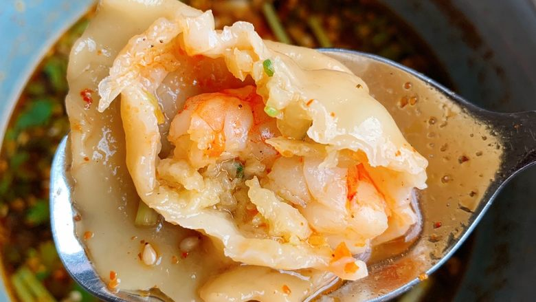 酸汤水饺,好好吃😋