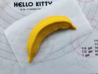 香蕉馒头,捏出三条棱,有香蕉的外观干