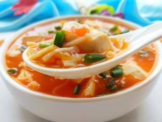 茄汁金针菇炖豆腐,美美图片来一张,酸甜开胃!