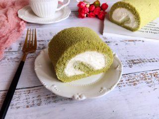 抹茶蛋糕卷,成品