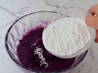 紫薯芝士饼,加入糯米粉