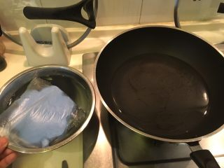 夏天的上脑-牛排沙拉,烧一锅热水、准备一盆冰水