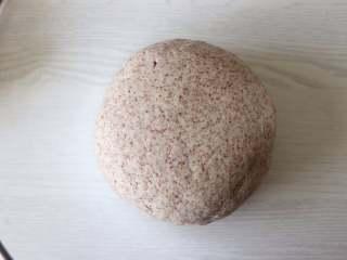 健康主食,无油无糖黑麦馒头,所有食材放到盆中,揉面到三光(手光、盆光、面光)。