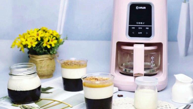 焦糖双色咖啡奶冻,做好的双色咖啡奶冻Q弹爽滑,真是太好吃了!