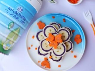 简单又快手的紫薯香蕉土司卷,有奶香味的宝宝更爱吃。