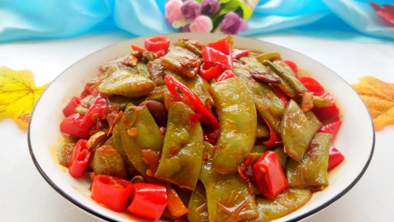 辣炒白扁豆,特别下饭!