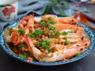 蒜蓉丝瓜蒸海虾