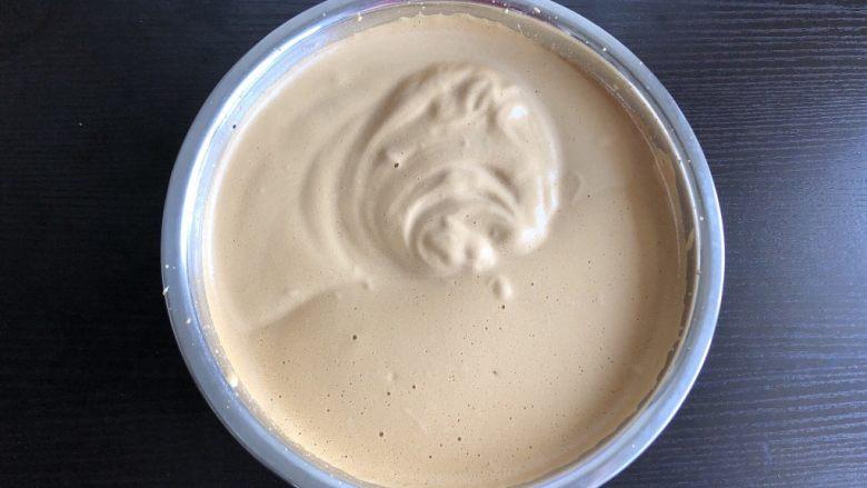 红枣糕(全蛋打发),隔热水打发至纹路不易消失