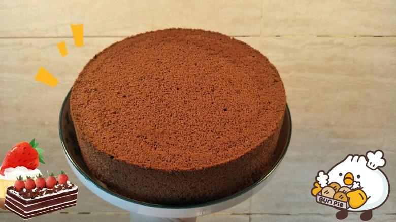 十分优秀de巧克力戚风蛋糕,OK👌!
