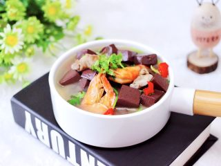 肉片海虾烩猪血