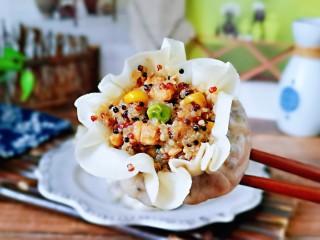糯米藜麦鸡胸时蔬烧菜,我要开动喽~健康低脂的烧麦。