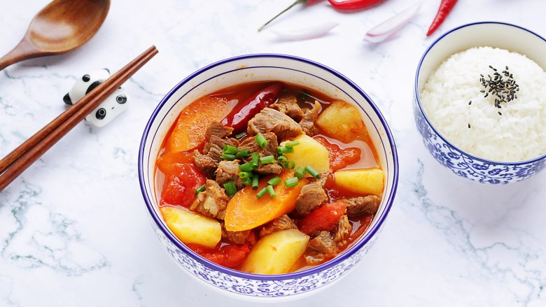 番茄土豆牛腩汤