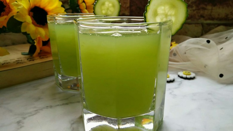 黄瓜蜂蜜梨子汁