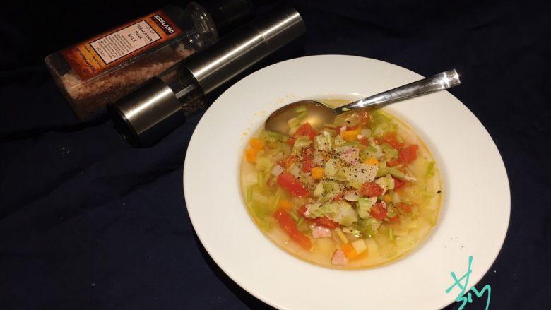 培根蔬菜汤