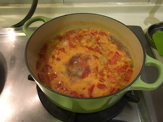 培根蔬菜汤,煮开啦