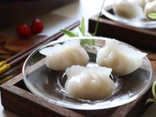 晶莹剔透的水晶饺,成品