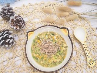 宝宝辅食-时蔬肉沫颗粒面,营养,美味❤