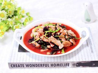 蒜香肉片炒苋菜